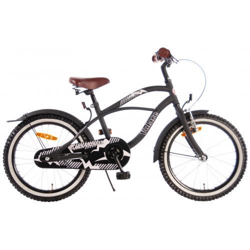 Rower dziecięcy Volare Black Cruiser - Chłopcy - 18 cali - Czarny - 95% zmontowane