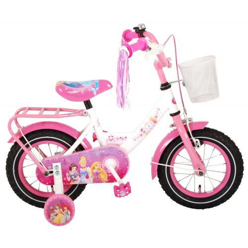 Rower dziecięcy Disney Princess - dziewczynki - 12 cali - różowy - zmontowany w 95%