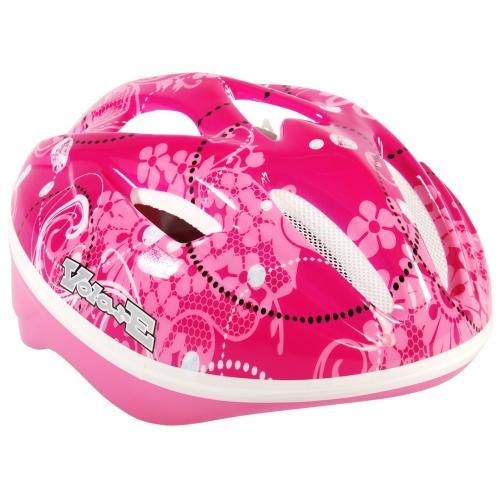 Kask rowerowy Volare Deluxe - Różowy Kwiaty - 51-55 cm