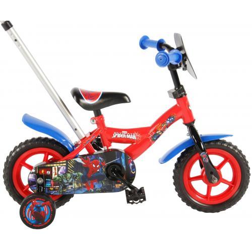 Rower dziecięcy Spider-Man - Chłopcy - 10 cali - Czerwony / Niebieski