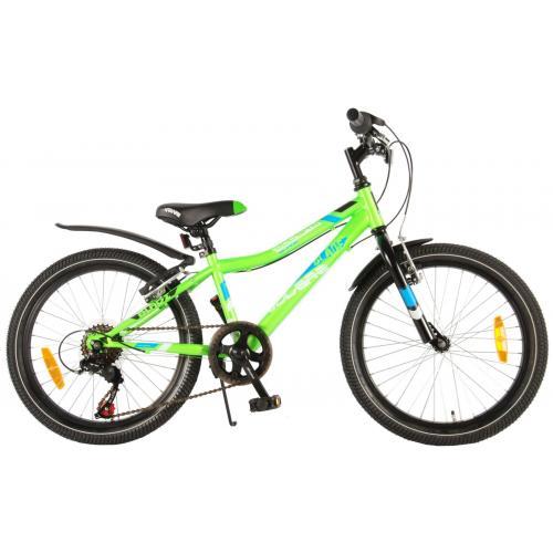 Rower dziecięcy Volare Blade - Chłopcy - 20 cali - Zielony - 95% dostrojony - 6 biegów Shimano