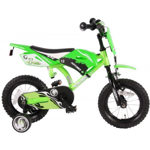 Volare Motobike Rower dziecięcy - Chłopcy - 12 cali - Zielony - 95% zmontowane