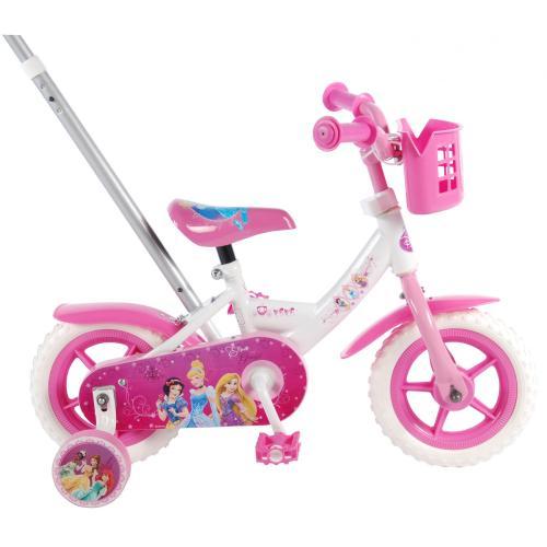Rower dziecięcy Disney Princess - dziewczęcy - 10 cali - różowy / biały