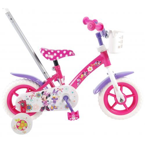 Rower dziecięcy Disney Minnie Bow-tique - Dziewczęce - 10 cali - Różowy / Biały / Fioletowy