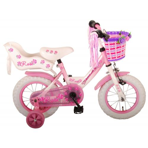 Rower dziecięcy Volare Rose - Dziewczęce - 12 cali - Różowy - 95% zmontowane
