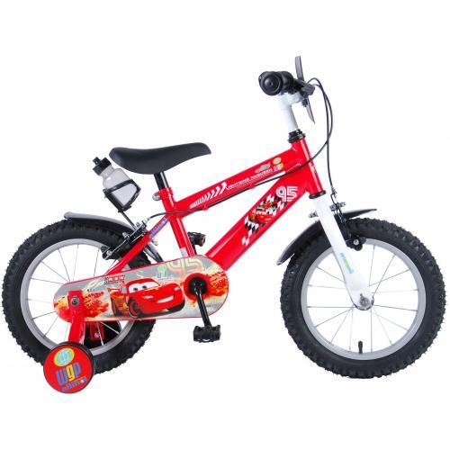 Rower dziecięcy Disney Cars - Chłopcy - 14 cali - Czerwony - 2 hamulce ręczne