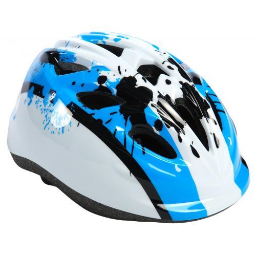 Dziecięcy kask rowerowy Volare Biały niebieski XS 47-51 cm extra mały Wzór