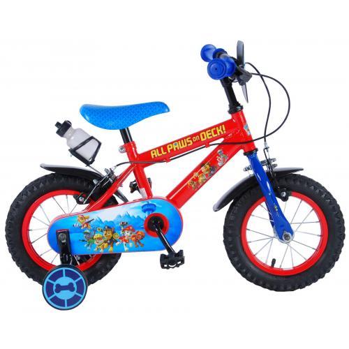 Rower dziecięcy Paw Patrol - Chłopcy - 12 cali - Czerwony / Niebieski - 2 hamulce ręczne