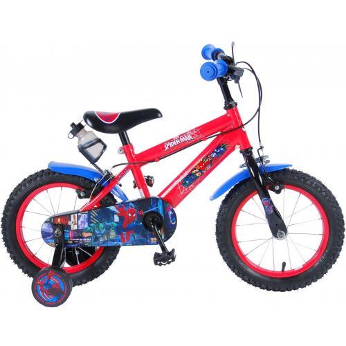 Rower dla dzieci Ultimate Spider-Man - Chłopcy - 14 cali - Czerwony Czarny - 2 hamulce ręczne