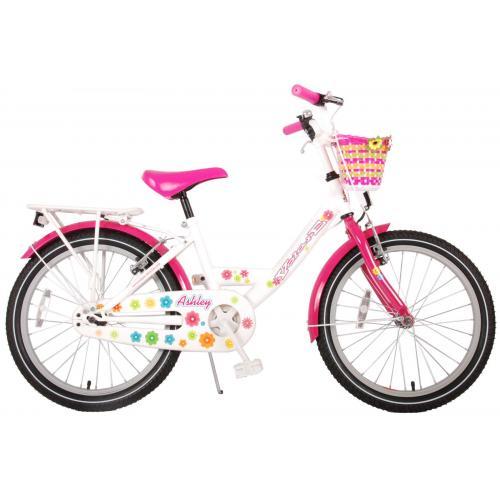 Rower dla dzieci Volare Ashley - Dziewczęce - 20 cali - Biały / Różowy - dwa hamulce ręczne