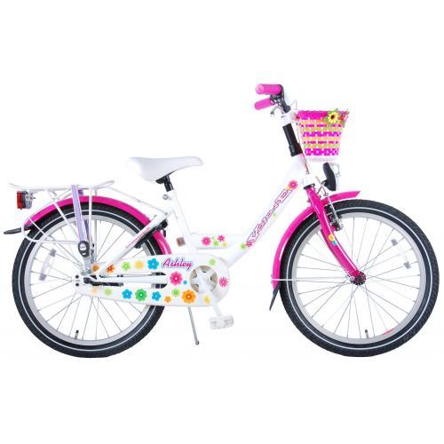 Rower dziecięcy Volare Ashley - Dziewczęce - 20 cali - Biały / Różowy - 95% zmontowane