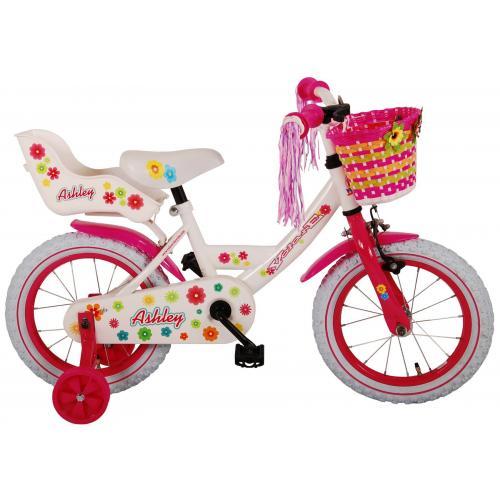 Rower dziecięcy Volare Ashley - Dziewczęce - 14 cali - Biały - 95% zmontowane