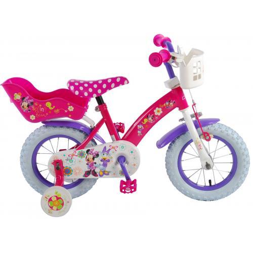Rower dziecięcy Disney Minnie Bow-Tique - Dziewczęcy - 12 cali - Różowy Biały