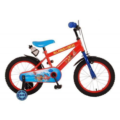 Rower dziecięcy Paw Patrol - Chłopcy - 16 cali - Czerwony Niebieski