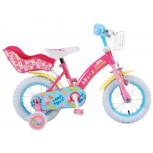 Rower dziecięcy Świnka Peppa - Dziewczęcy - 12 cali - Różowy