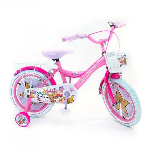 Rower dziecięcy LOL Surprise - Dziewczęce - 16 cali - Różowy - 2 hamulce ręczne