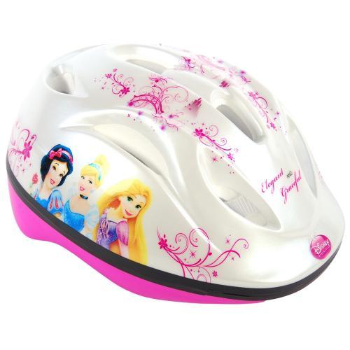 Kask rowerowy Disney Princess - biały różowy - 51-55 cm
