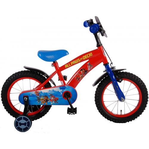 Rower dziecięcy Paw Patrol - Chłopcy - 14 cali - Czerwony Niebieski - 95% zmontowane