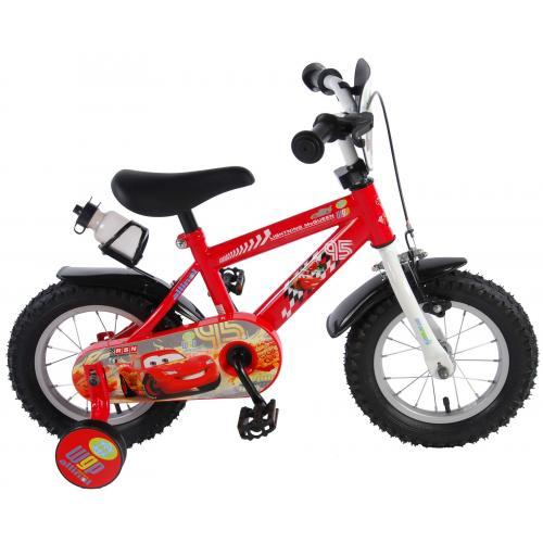 Rower dziecięcy Disney Cars - chłopięcy - 12 cali - czerwony