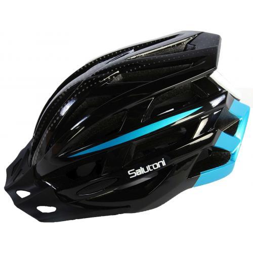 Męski kask rowerowy Salutoni Czarny Niebieski 54-58 cm