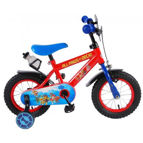 Rower dziecięcy Paw Patrol - Chłopcy - 12 cali - Czerwony / Niebieski