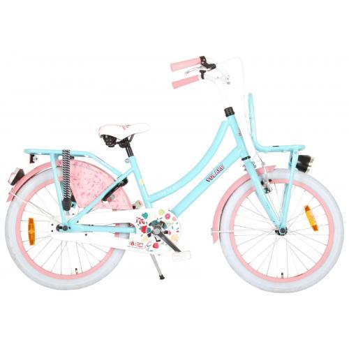 Rower dla dzieci Volare Ibiza - Dziewczęce - 20 cali - Niebieski / Różowy - 95% zmontowane