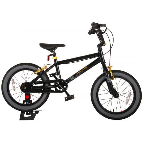 Rower dziecięcy Volare Cool Rider - Chłopcy - 16 cali - Czarny - Hamulce ręczne - 95% zmontowane