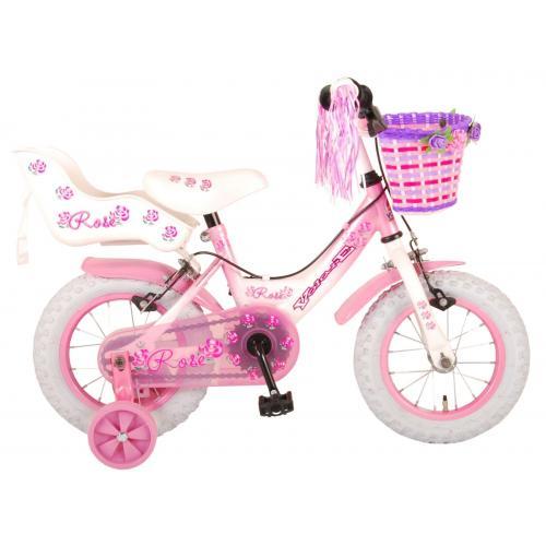 Rower dziecięcy Volare Rose - Dziewczęce - 12 cali - Różowy - 2 hamulce ręczne