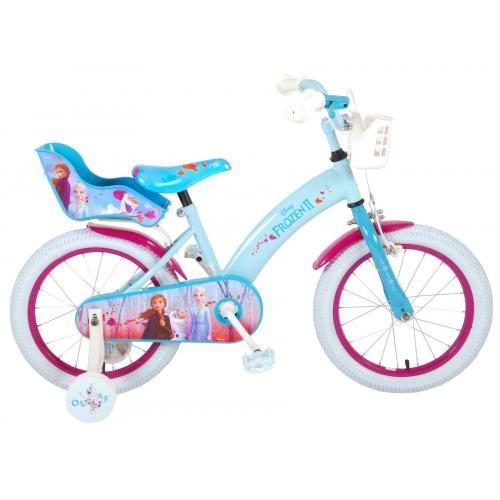 Disney Frozen 2 - Rower dziecięcy - Dziewczynki - 16 cali - Niebieski / Fioletowy