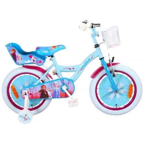 Disney Frozen 2 - Rower dziecięcy - Dziewczynki - 16 cali - Niebieski / Fioletowy - 95% zmontowane