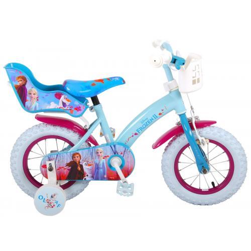 Rower dziecięcy Disney Frozen 2 - Dziewczęce - 12 cali - Niebieski / Fioletowy