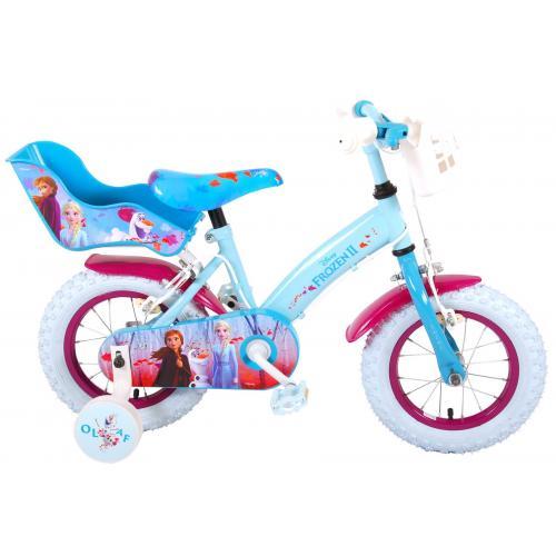 Disney Frozen 2 Rower dziecięcy - Dziewczynki - 12 cali - Niebieski / Fioletowy - 2 Hamulce ręczne