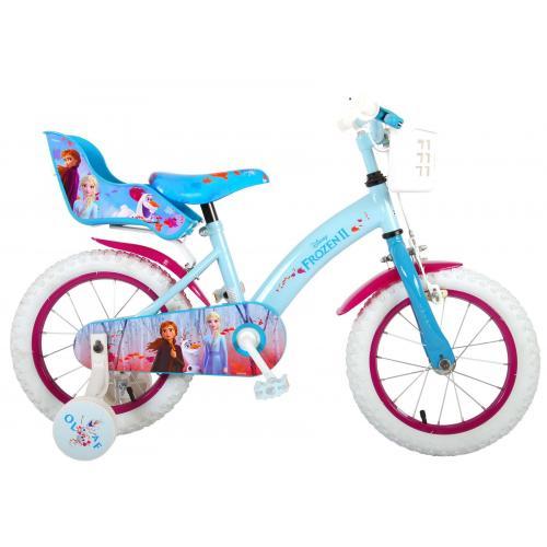 Rower dziecięcy Disney Frozen 2 - Dziewczęce - 14 cali - Niebieski / Fioletowy