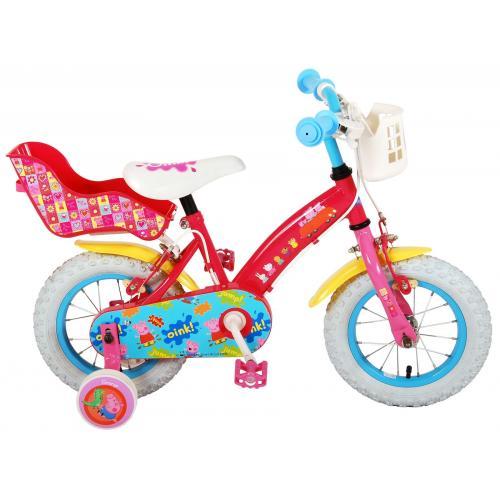 Rower dziecięcy Świnka Peppa - Dziewczęcy - 12 cali - Różowy - 2 hamulce ręczne