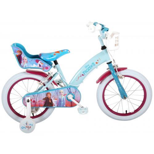 Disney Frozen 2 - Rower dla dzieci - Dziewczynki - 16 cali - Niebieski / Fioletowy - 2 Hamulce ręczne