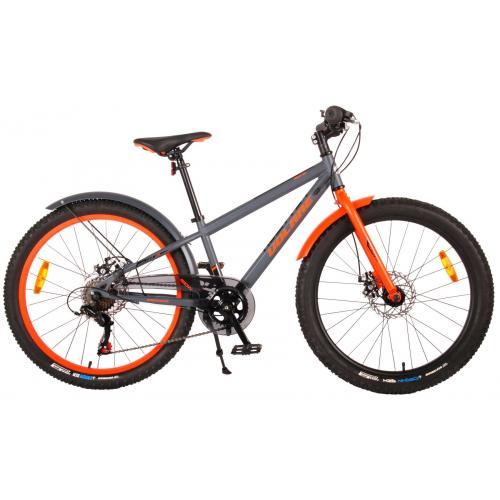 Rower dziecięcy Volare Rocky - 24 cale - szary - zmontowany w 95%