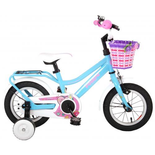 Rower dziecięcy Volare Brilliant - Dziewczęce - 12 cali - niebieski - 95% zmontowane