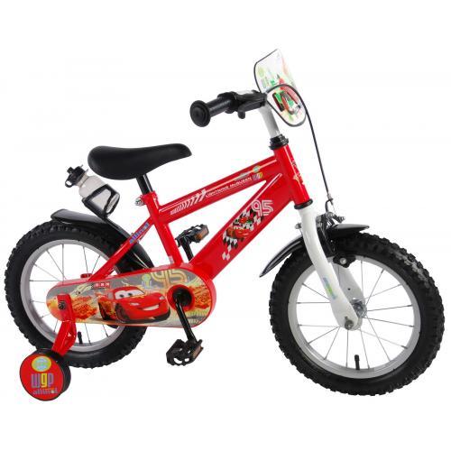 Rower dziecięcy Disney Cars - chłopięcy - 14 cali - czerwony