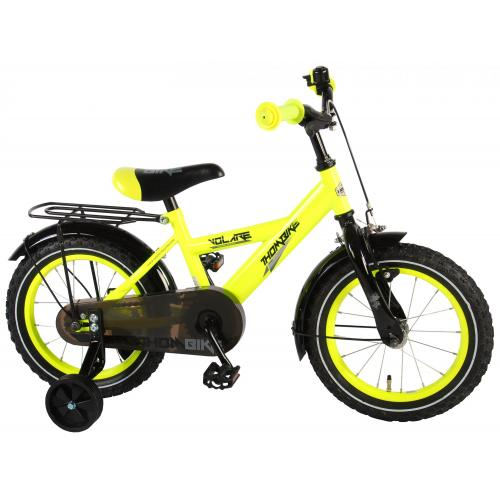 Rower dziecięcy Volare Thombike - Chłopcy - 14 cali - Neon Żółty - 95% zmontowane
