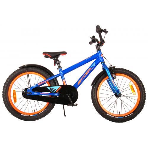 Rower dziecięcy Volare Rocky - 18 cali - niebieski - zmontowany w 95% - Prime Collection
