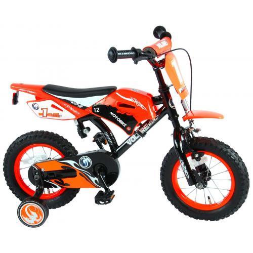Rower dziecięcy Volare Motorbike - Chłopcy - 12 cali - Pomarańczowy - 95% zmontowane