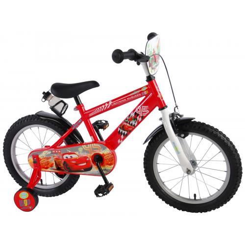 Rower dziecięcy Disney Cars - chłopięcy - 16 cali - czerwony