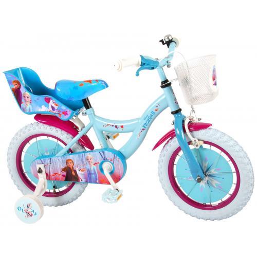 Rower dziecięcy Disney Frozen 2 - Dziewczęce - 14 cali - Niebieski / Fioletowy - 95% zmontowane
