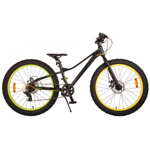 Volare Gradient Rower dziecięcy - Chłopcy - 24 cali - Black Green Yellow - 7 prędkości - Prime Collection