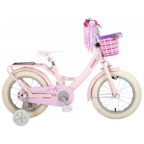 Volare Ashley Rower dziecięcy - Dziewczynki - 14 cali - Różowy - 95% zmontowany
