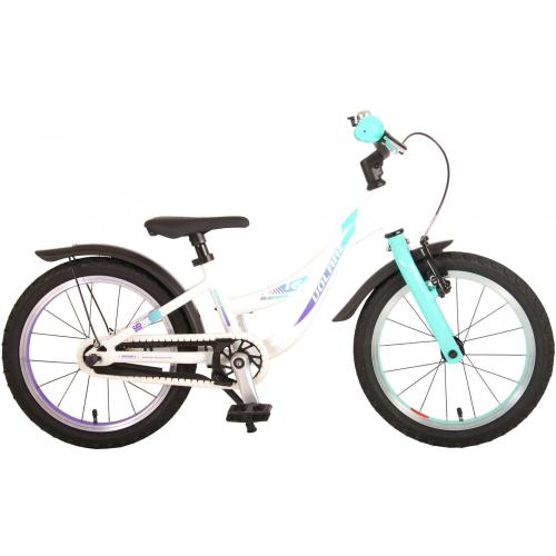 Volare Glamour Rower dziecięcy - Dziewczynki - 16 cali - Pearl Mint Green - Kolekcja Prime