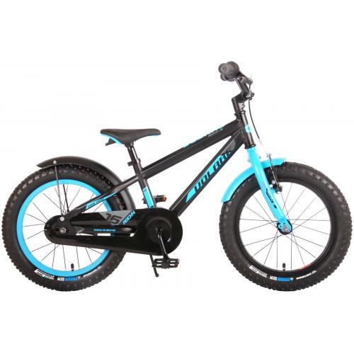 Rower dziecięcy Volare Rocky - 16 cali - czarny niebieski - zmontowany w 95%