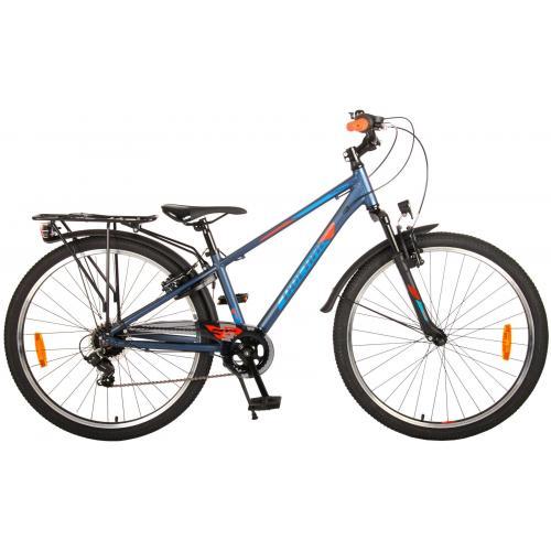 Rower dziecięcy Volare Cross - Chłopcy - 26 cale - Blue Green - 7 biegów - Prime Collection