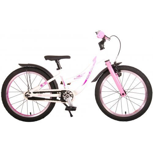 Volare Glamour Rower dziecięcy - Dziewczynki - 18 cali - perłowy i różowy - Kolekcja Prime