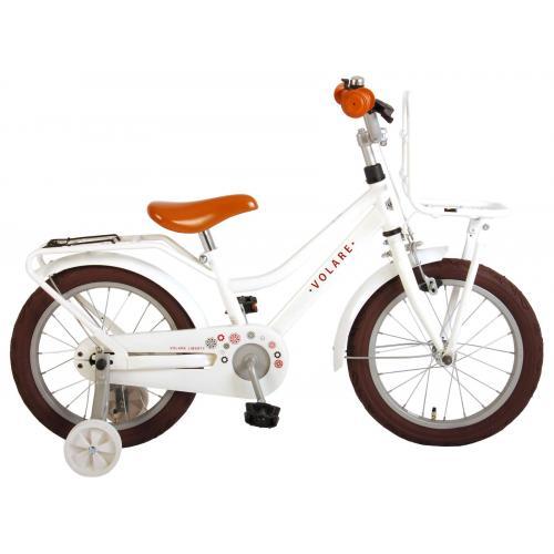 Volare Liberty Rower dziecięcy - Dziewczynki - 16 cali - Biały - 95% zmontowany